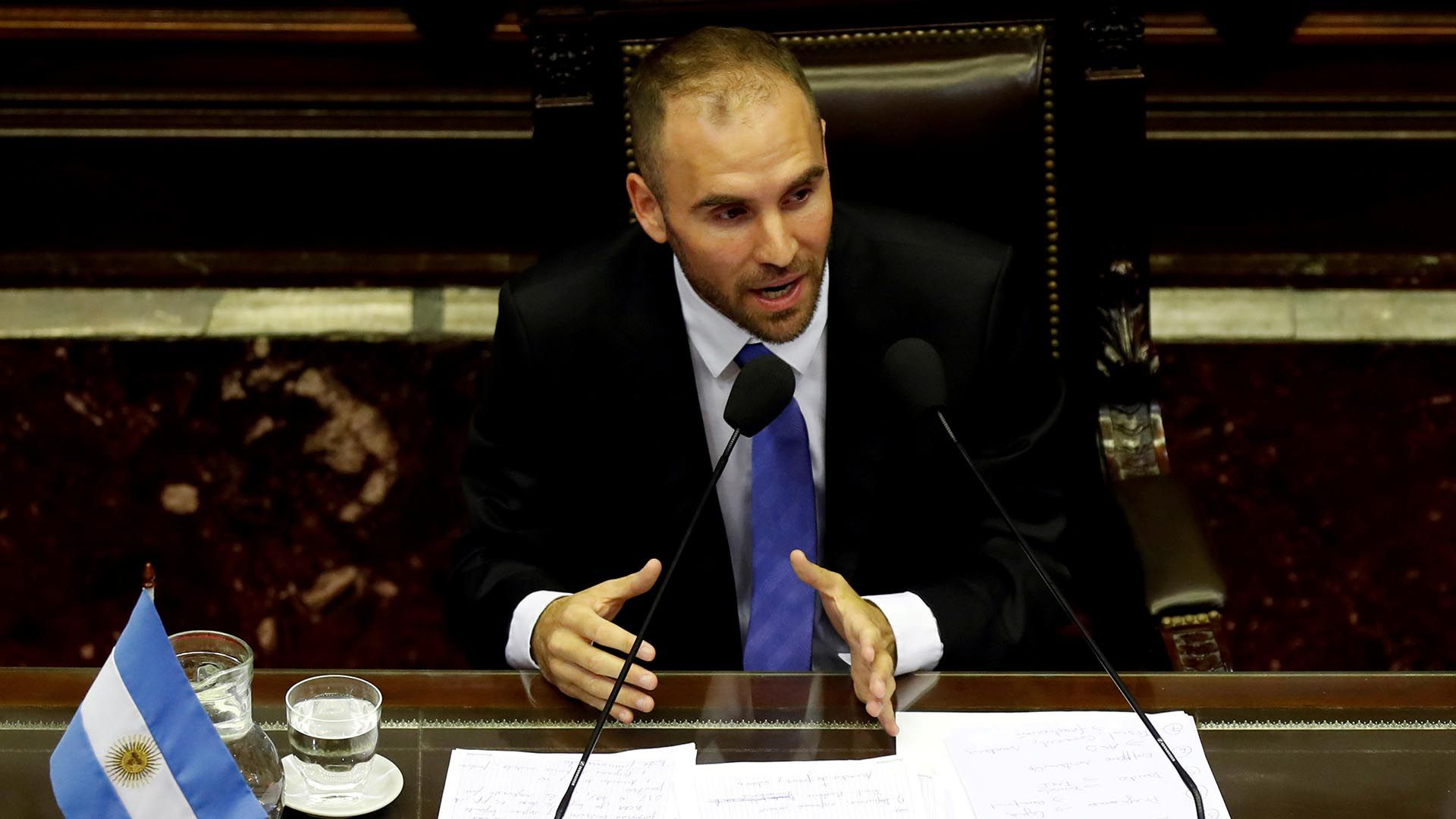 FILE PHOTO FILE PHOTO Argentina's economy minister, Martin Guzman, speaks at Congress on the country's economic situation and debt plan ahead of the meetings with the International Monetary Fund officials who are traveling to the country, in Buenos Aire