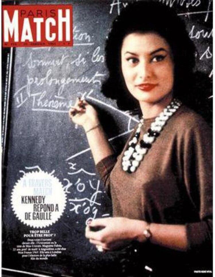 Una Miss que causó sensación. Muguette Fabris, coronada en 1963, rompía el estereotipo: era profesora de matemáticas y retomó sus clases al día siguiente a su coronación