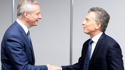 El encuentro entre Mauricio Macri y Bruno Le Maire
