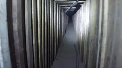 La construcción del túnel fue de gran calidad. (Patrulla de Aduanas y Fronteras de EE.UU.)