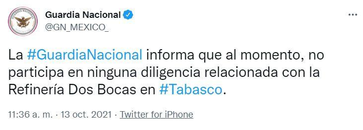 Guardia Nacional (Foto: captura de pantalla/Twitter/@GN_MEXICO_)