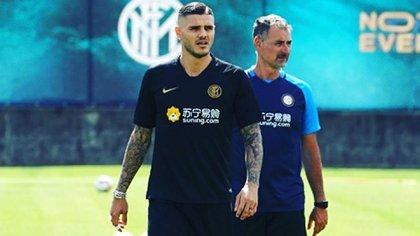 Los principales dirigentes y el director técnico de Inter fueron claros con Mauro Icardi: no entra en el proyecto del club y debe buscar un nuevo destino (@mauroicardi)