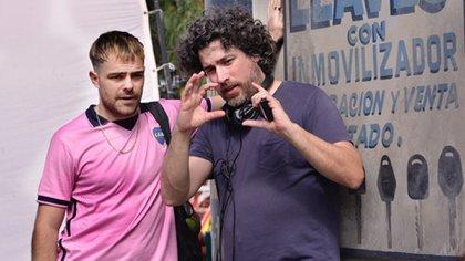 """Mariano Cohn junto a Peter Lanzani, director y protagonista de """"4X4"""""""