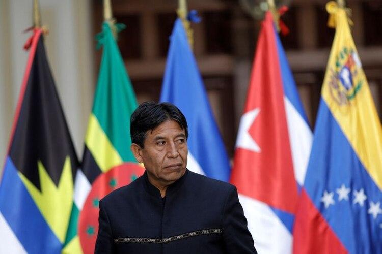 El ex ministro de Relaciones Exteriores de Bolivia, David Choquehuanca, asiste a una reunión del ALBA-TCP, en Caracas, Venezuela. 8 de agosto de 2017. (REUTERS)
