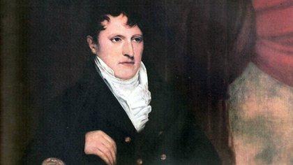 Retrato de Manuel Belgrano por Francois Casimir Carbonnier