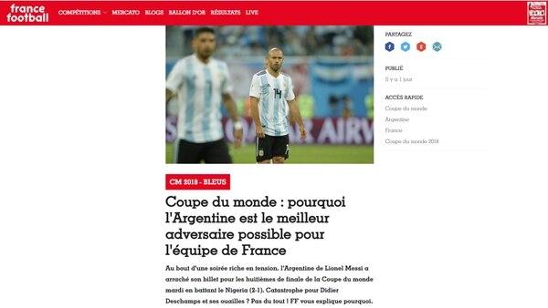 """""""Por qué Argentina es el mejor oponente posible para el equipo francés"""", titula France Football"""