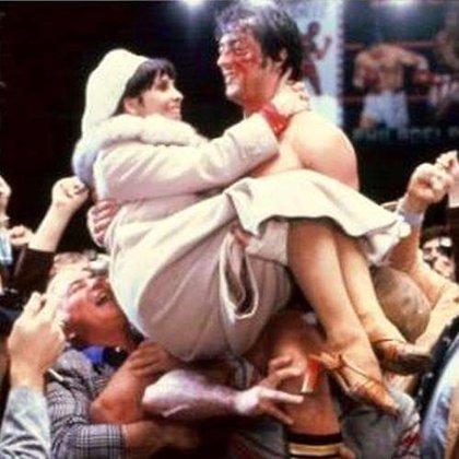 Adrian y Rocky en una de las escenas más emblemáticas de la saga