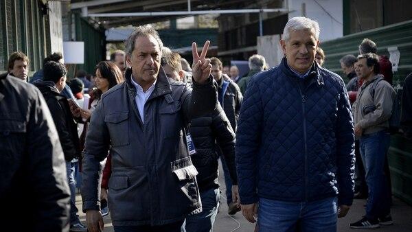 Daniel Scioli y Julián Domínguez (Fotos: Gustavo Gavotti)