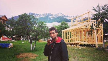 Unos mates en Ushguli, el pueblo más alto de todo Europa