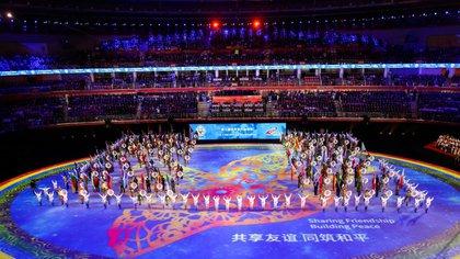 La ceremonia de apertura de los Juegos Militares Mundiales (CGTN/captura de pantalla)