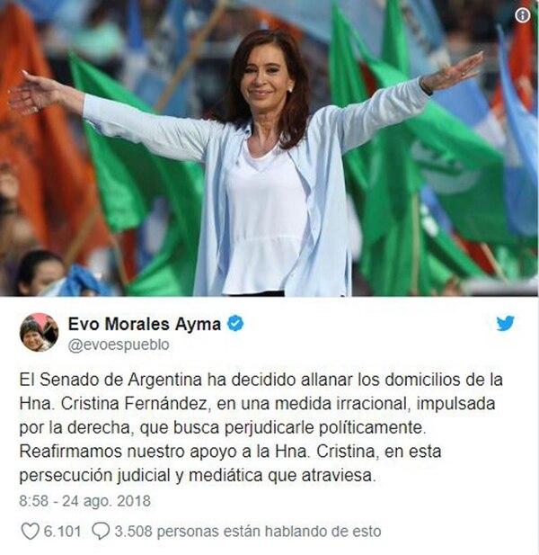 El mensaje de Evo Morales