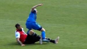 La escalofriante lesión que sufrió Lucas Pratto en el Feyenoord