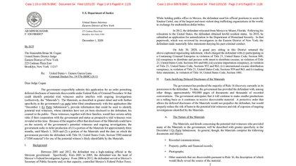 Genaro Garcia Luna - Motion for Protective Order by USA (Foto: beta.documentcloud.org)