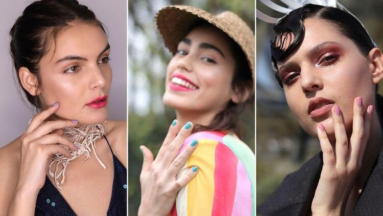 Lila, rosa y turquesa, los colores protagonistas en las uñas de las pasarelas de verano 2020 del designers