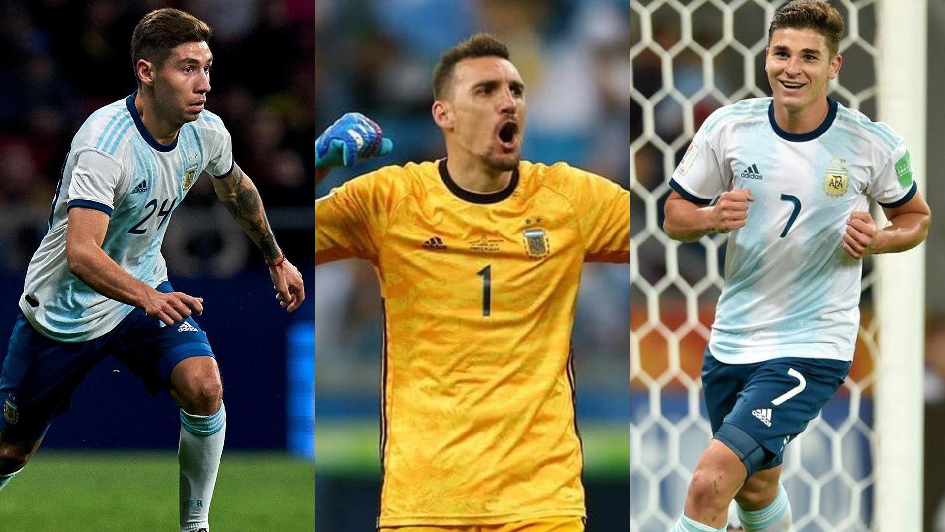 convocados selección argentina montiel armani  alvarez