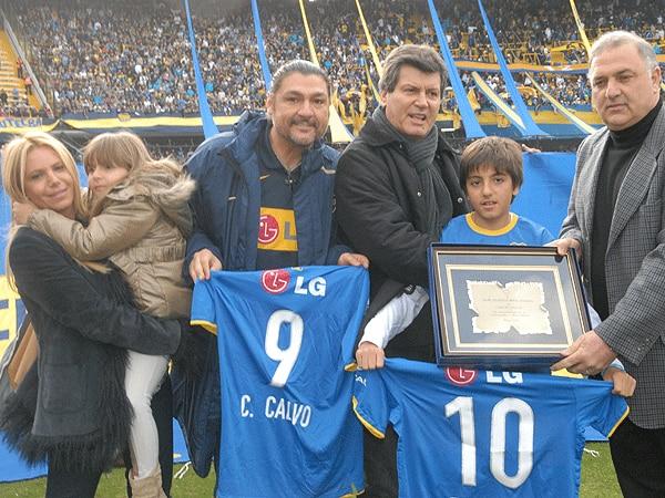 El reconocimiento de Boca a Carlín en el 2011