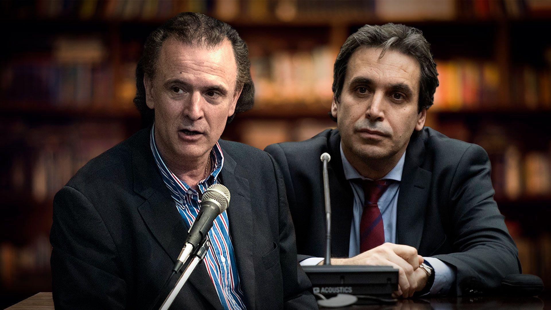 El periodista Daniel Santoro y el juez federal Alejo Ramos Padilla