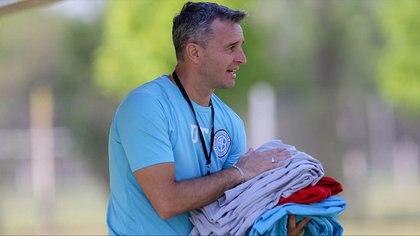 El técnico, en su paso por Belgrano, donde cosechó buenas resultados, pero se fue por diferencias con la dirigencia (@Belgrano)