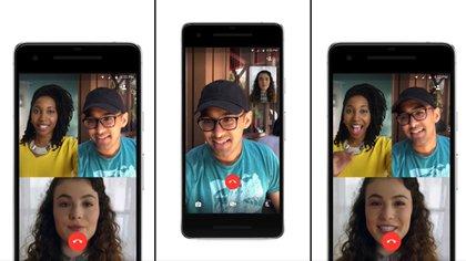 WhatsApp permite realizar videollamadas de hasta cuatro personas.