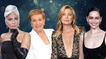 Lady Gaga, Julie Andrews, Ellen Pompeo y Emilie Clark