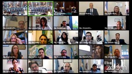 Larreta presidió la apertura de las sesiones legislativas vía Zoom