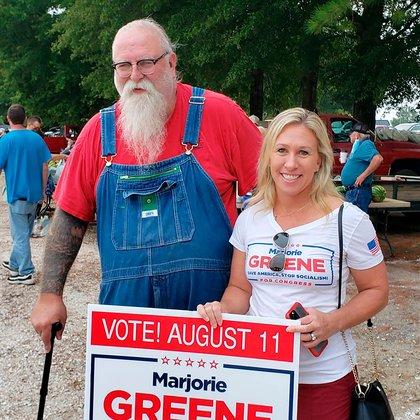 Marjorie Taylor Greene, candidata a congresista por el Partido Republicano (Facebook)