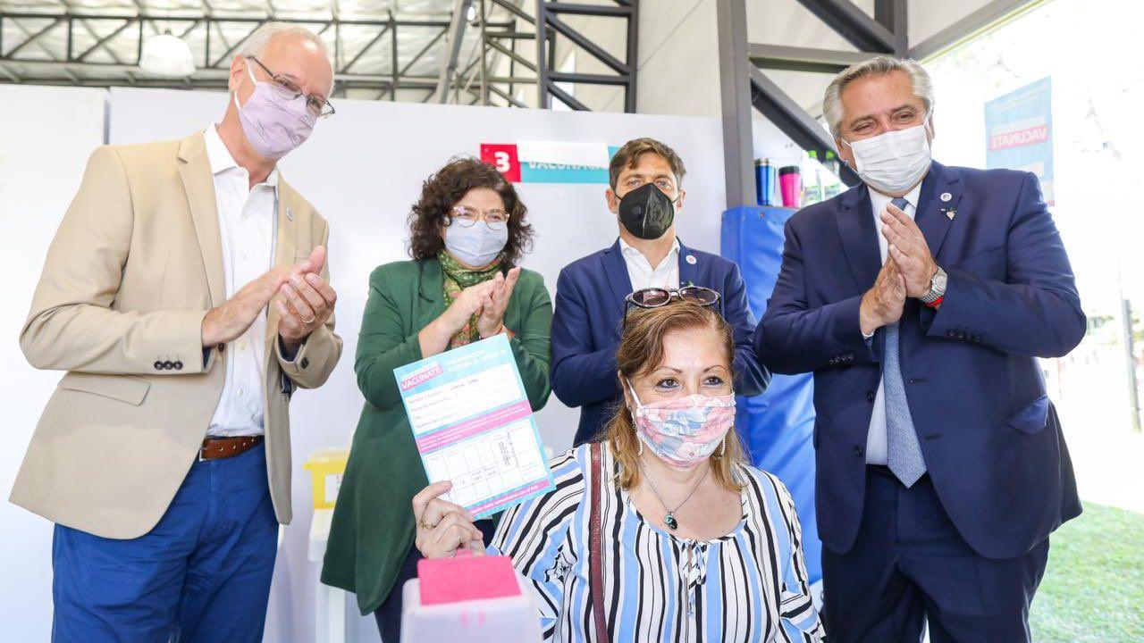 Daniel Gollán, Carla Vizzotti, Axel Kicillof y Alberto Fernández