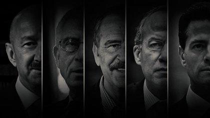 Son cinco ex mandatarios los que se están contemplando para la consulta (Fotoarte: Jovani Silva/ Infobae México)