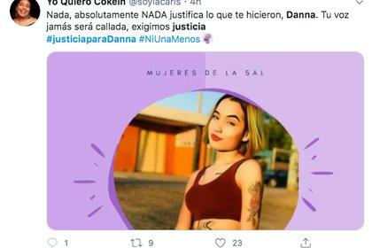 Danna tenía 16 años y fue calcinada en el fraccionamiento La Condesa en Mexicali, Baja California (Foto: Twitter)