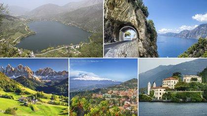 Aunque no es el país más grande, Italia tiene un paisaje increíblemente diverso y un terreno que abarca desde montañas nevadas hasta playas tropicales