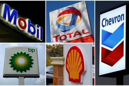Algunas de las principales firmas petroleras (Reuters)