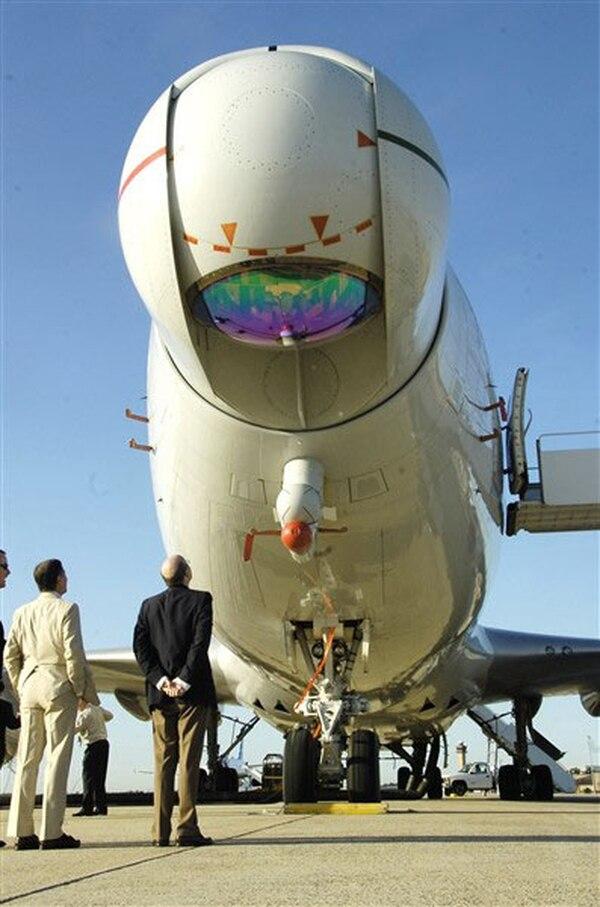 El Láser Aerotransportado de la Fuerza Aérea estadounidense.(Bobby Jones, US Air Force)