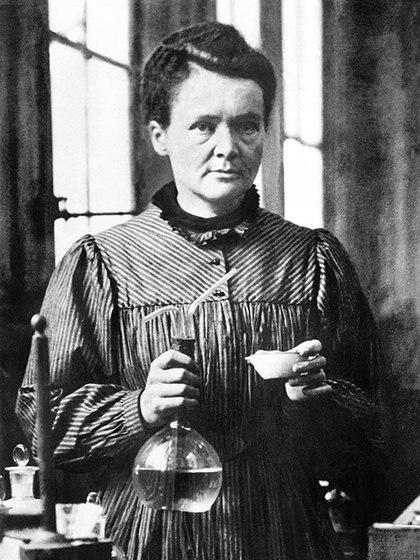 Una imagen de Marie Curie en 1921. Pierre, su marido, murió en 1906