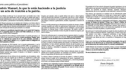 Dante Delgado, senador de Movimiento Ciudadano, dirigió una carta al presidente López Obrador (Foto: Twitter@DanteDelgado)