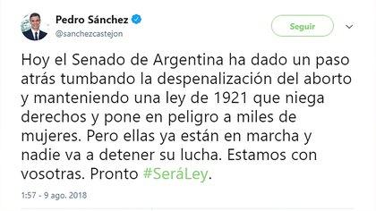 El irrespetuoso tuit del sobrevenido presidente de Gobierno de España
