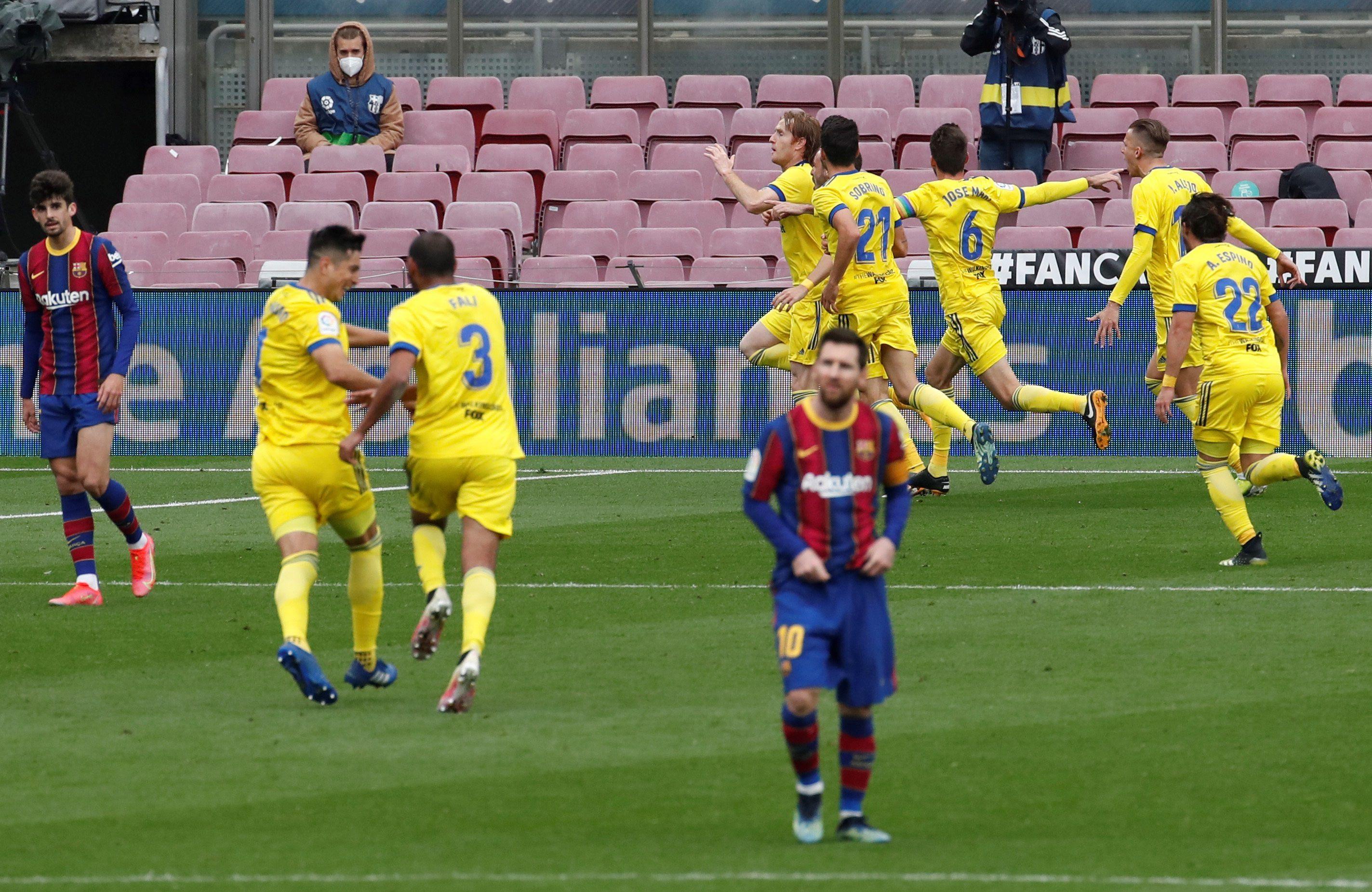 El Barcelona no pudo superar al Cádiz en el Camp Nou (Efe)