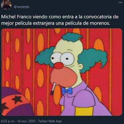 """Usuarios de redes sociales hicieron memes sobre que """"Nuevo Orden"""" no fue seleccionada para representar a México en los premios Oscar"""
