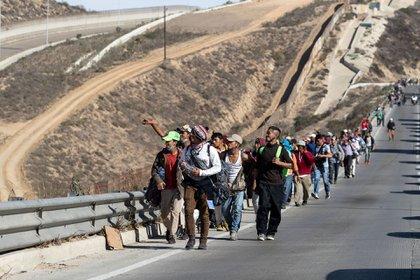 Casi 10.000 migrantes de la caravana han entrado a México (Foto: AFP)