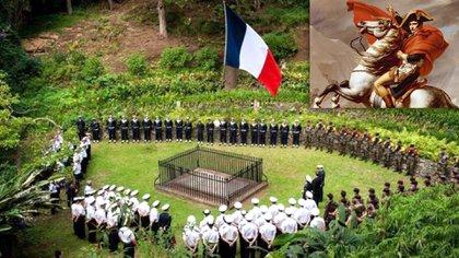 La tierra donde fue enterrado en 1821 fue adquirida por Francia y aún se conserva  y  es centro de homenajes y evocaciones.