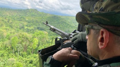Una aeronave de la Guardia Bolivariana sobrevoló la zona rural de Cúcuta.