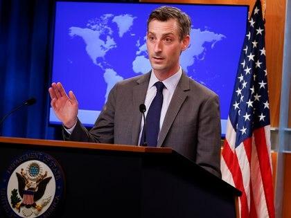 Ned Price, portavoz del Departamento de Estado (REUTERS/Carlos Barria/Pool)