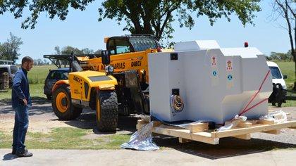 La nueva tecnología llega al Centro del INTI en Rafaela para ser instalada (INTI)