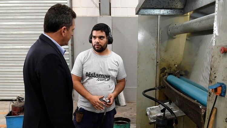 El ex legislador visitó la localidad bonaerense de Pilar