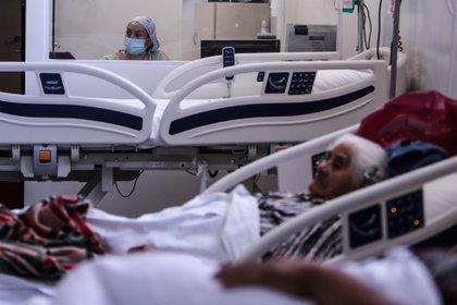 Personal m�dico realiza controles de pacientes con covid-19 en una unidad de terapia intensiva en un hospital de la Provincia de Buenos Aires. EFE/Juan Ignacio Roncoroni/Archivo