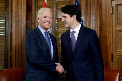 Los mandatario de EEUU y Canadá, Joe Biden y Justin Trudeau, respectivamente