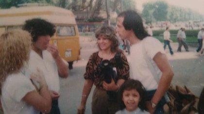 Rocha con Maradona, en un encuentro que mantuvieron en París