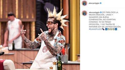 La publicación de Alex Kanikia contra sus compañeros (Foto: Instagram)
