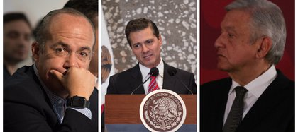 El Presidente López Obrador, mientras fue oposición siempre se posicionó como crítico de EPN y Calderón por sus desiciones en materia de seguridad (Fotos: Cuartoscuro).