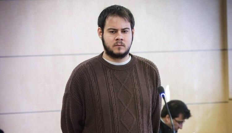 El rapero Pablo Hasél durante el juicio en la Audiencia Nacional de España  (EFE) 5495e08375e
