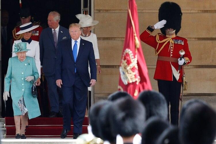 Por la noche Trump será agasajado con un banquete oficial en su honor (AFP)